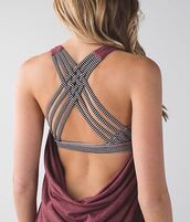 top,backless,draped,workout,criss cross back,criss cross,sportswear