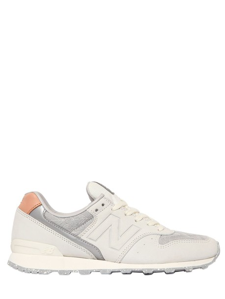 New Balance mesh sneakers white grey shoes