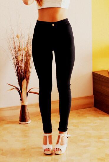 High waist denim jeans