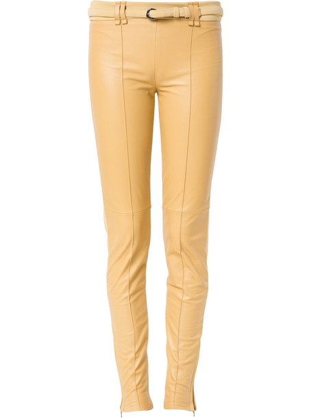Gloria Coelho leggings women spandex yellow orange pants