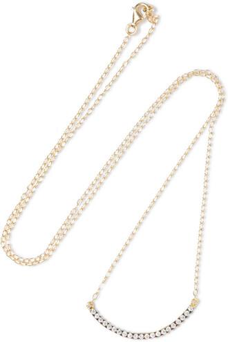 rainbow embellished necklace gold jewels