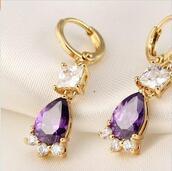jewels,earrings,undefined,zircon earring,earrings zircon,gold earrings,zircon ear stud,zircon jewelry,purple earrings,ear stud,gold jewelry,unicorn,ear hoops