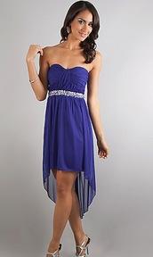 dress,high low,high low dress,sparkle,strapless,strapless dress,beautiful,cute,pretty,blue,purple dress,blue dress,similar,similar dress
