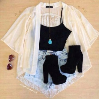 top crop tops black cute cardigan flowers skirt dress white pink purple shorts shoes