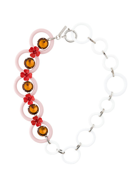 MARNI women necklace white jewels