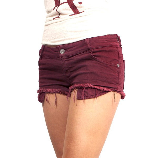 maroon/burgundy shorts