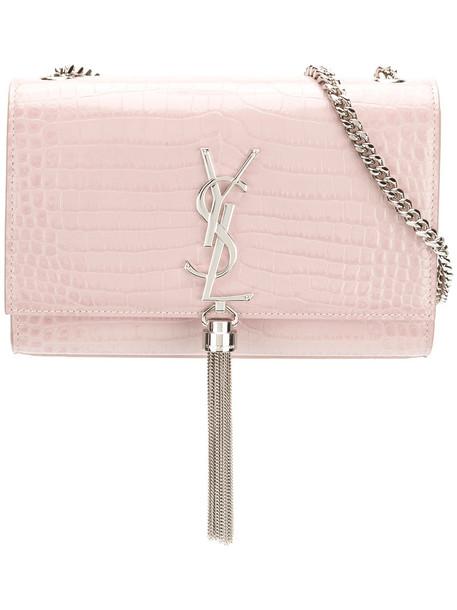 Saint Laurent satchel tassel women leather purple pink bag
