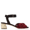 Satin knot suede sandals
