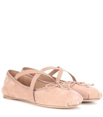 suede pink shoes