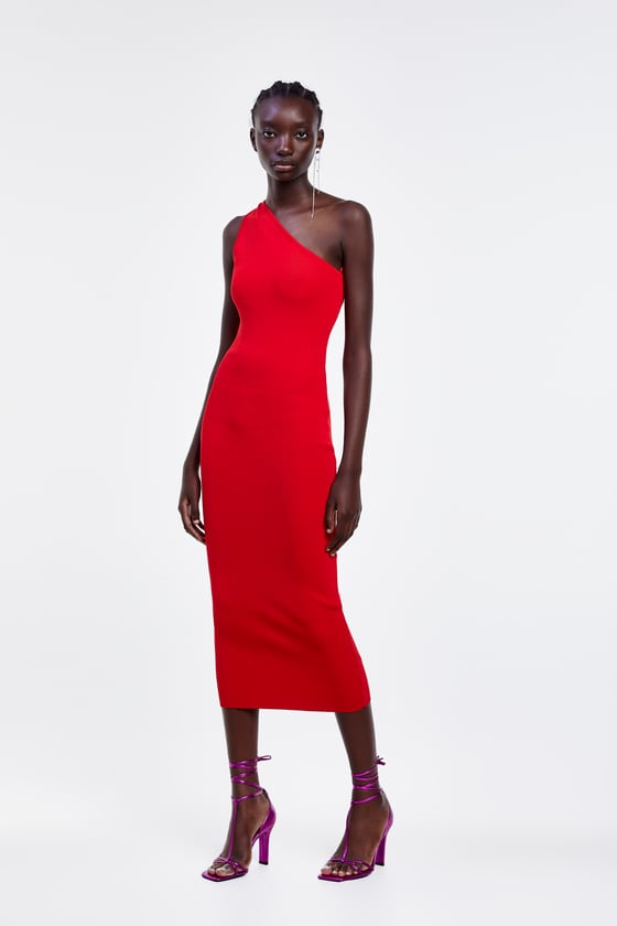 ASYMMETRIC PENCIL DRESS