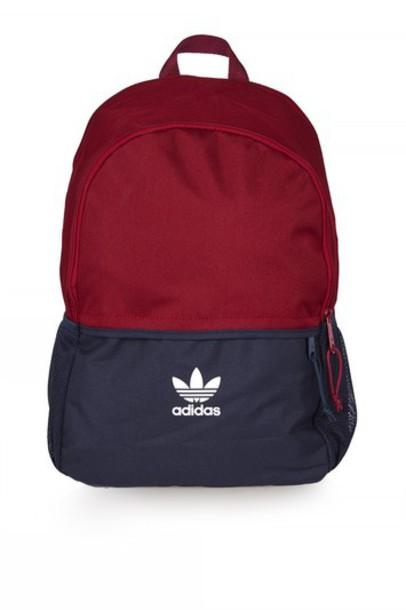 Topshop adidas originals backpack burgundy bag