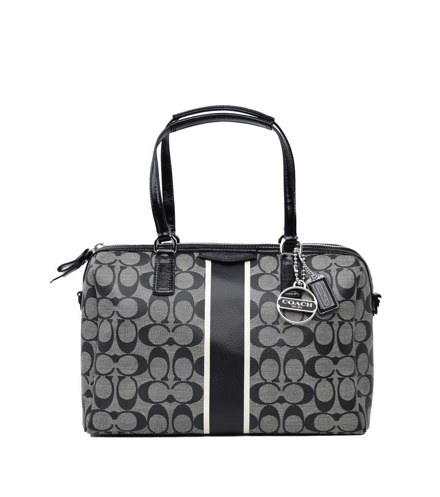 Coach signature stripe nancy satchel