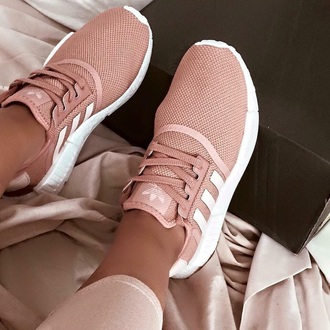 shoes trainers adidas pink rose gold pink sneakers