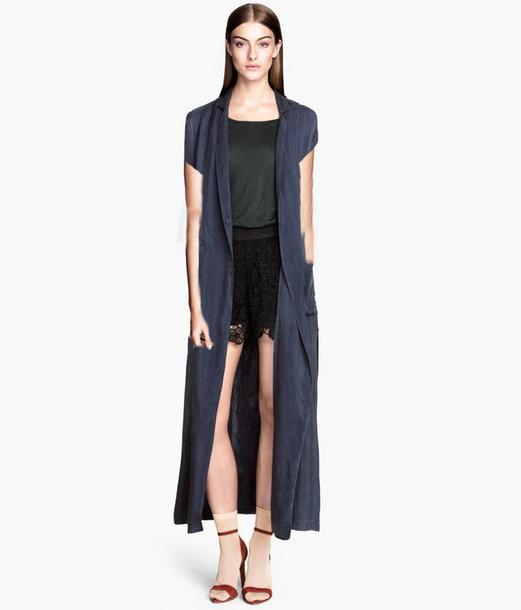 Blouse: longline, long, maxi, cardigan, jacket, shirt - Wheretoget