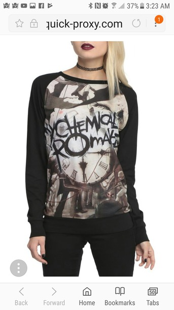 t-shirt my chemical romance black parade plus size medium