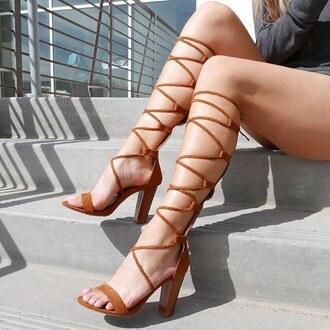 shoes braided braid heels ootd date outfit spring tan gojane