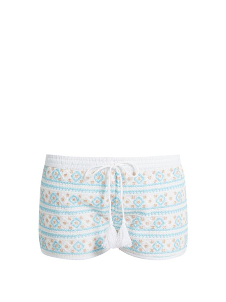 Melissa Odabash shorts embroidered white blue
