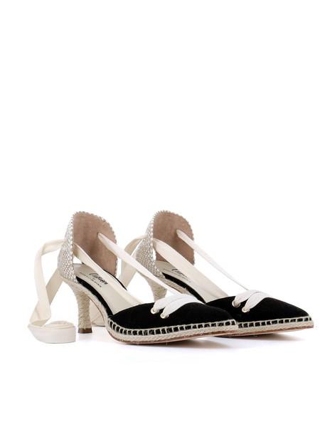 Castañer by Manolo Blahnik black beige shoes