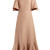Off-the-shoulder crepe midi dress