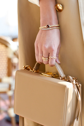 bag,tumblr,nude bag,boxed bag,ring,gold ring,bracelets,gold bracelet,jewels,jewelry,gold jewelry,accessories,Accessory