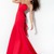 Fuchsia Mermaid Strapless Sweetheart Zipper Floor Length Chiffon Evening Dresses With Beading and Ruffles and High Slit