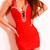 Backless Beam Waist Packet Buttock Wrinkled Diamante Milk Silk Solid Color Dress For Women