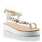 Suze nude embellished flatform sandal