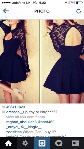 dress lace black little black dress beautiful short
