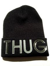 hat,thug life,beanie,black,girl,boy,tumblr