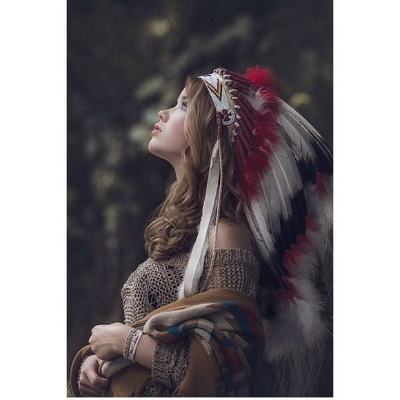 native american indian chief hat india
