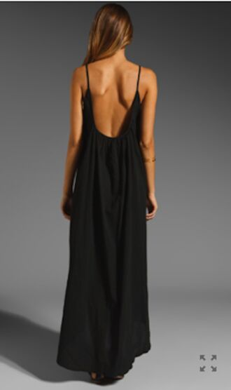 dress maxi dress strappy dress cover up cover up dress black low back dress