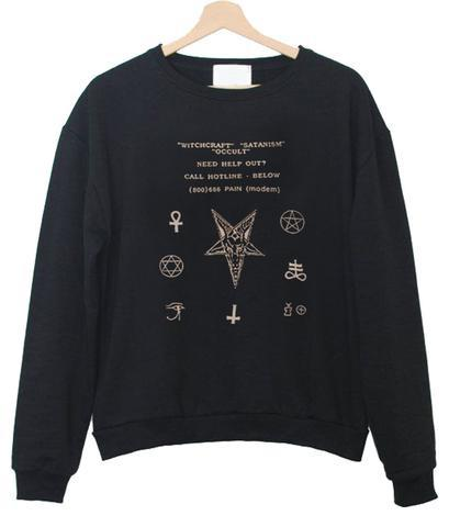 nail accessories sweatshirt
