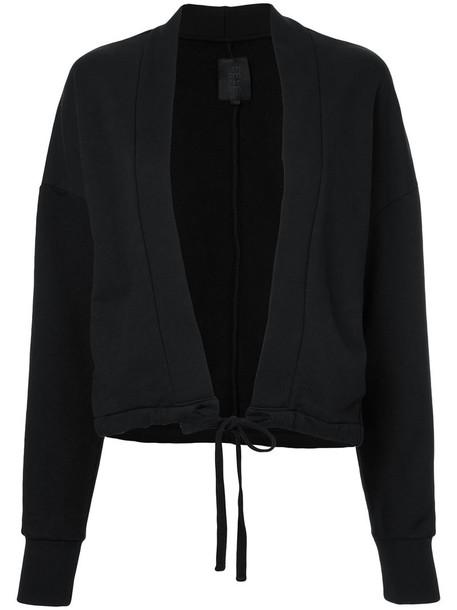 Thom Krom - tied hem jacket - women - Cotton - S, Black, Cotton