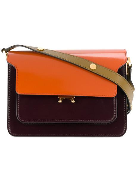 MARNI women bag shoulder bag leather purple pink