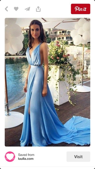dress blue dress long blue dress long train dress beautiful dresss