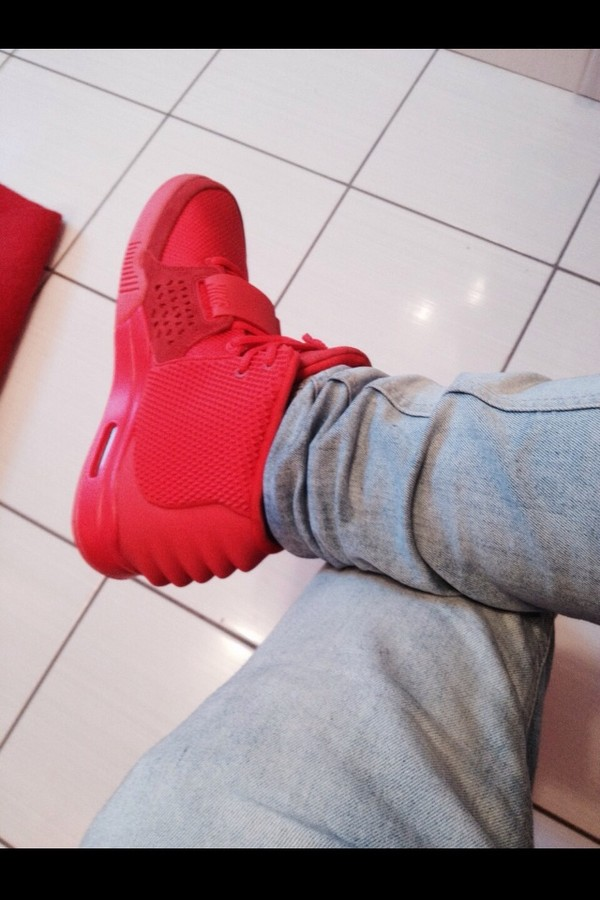 shoes sneakers red