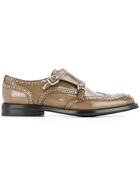 Church's studded women shoes leather brown