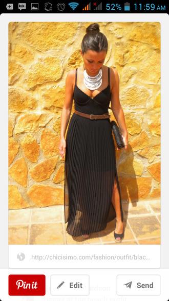 dress black black maxi dress summer dress first date