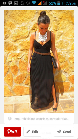 dress black black maxi dress summer dress first date