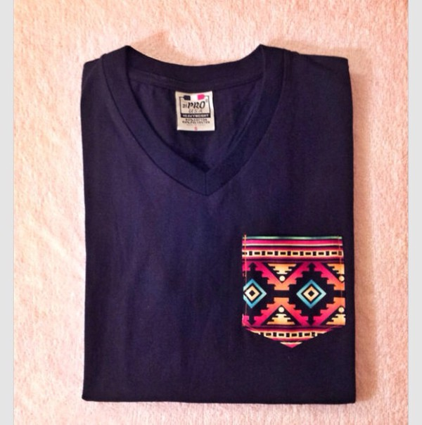 customized tribal pocket pocket t-shirt aztec shirt