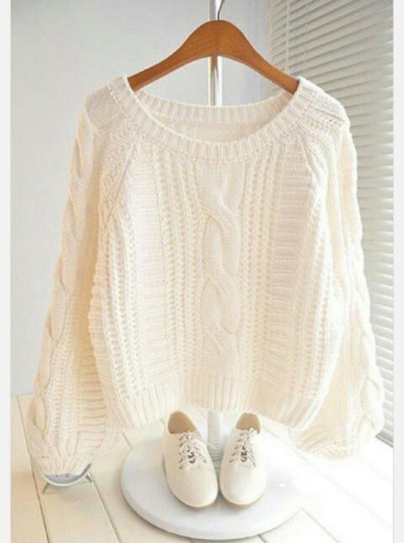 sweater cream inlove knitted sweater knitwear amazing