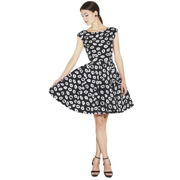 Alice   olivia allegra flare box pleat dress