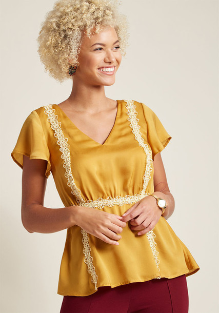 Mct1475 blouse top short wow yellow