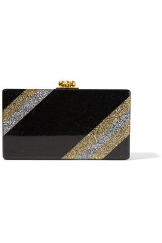 clutch metallic black bag