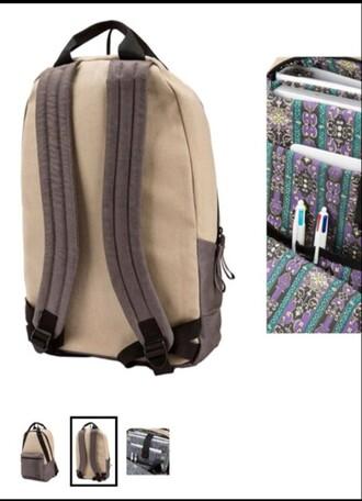 bag backpack tan