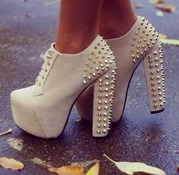 shoes style high heels white high heels white Pin up platform lace up boots