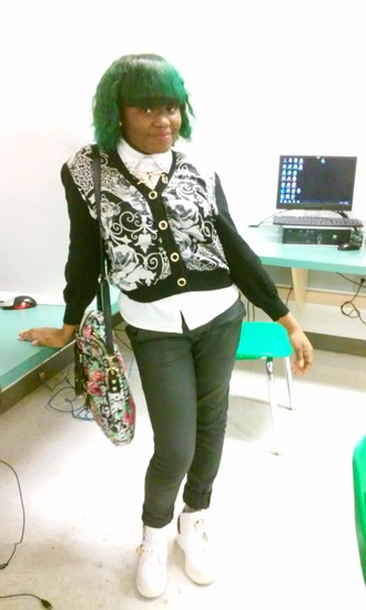 sweater cute sweaters cute dope shirt dope swag pants joggers green black platform shoes blouse betsey johnson leather pants faux leather overalls