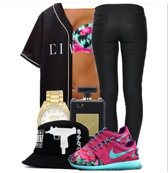 shirt black white gold pink blue green floral swimwear bucket hats bucket hat chinese black chinese i phone case floral swimsuit black pants gold watch floral nike roshe shoes cute dope hat shoes underwear jewels jacket pants jeans