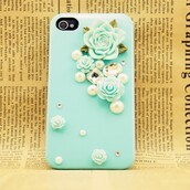phone cover,crystal iphone case,baby blue iphone case,3d iphone case
