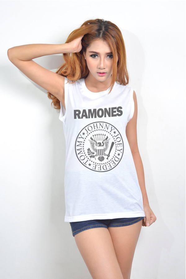 top ramones muscle tee muscle tee muscle tee fashion model new tip rock band band t-shirt punk rock hipster shirt hipster top hipster tank top tank top tank top white
